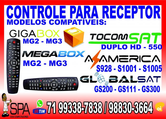 Controle Universal para Tocomsat Duplo