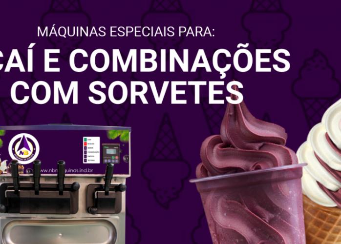 Máquina de sorvete açaí