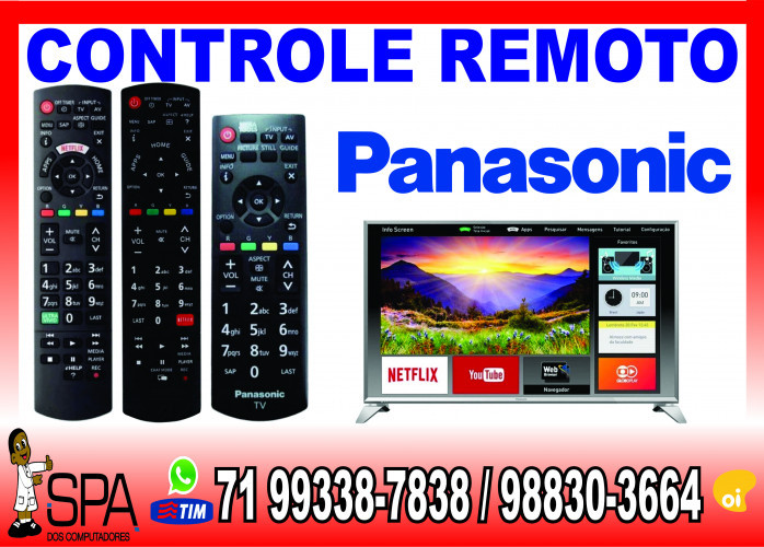 Controle Tv Panasonic TC-50AS600B Tecla Netflix e Ultra Vivid