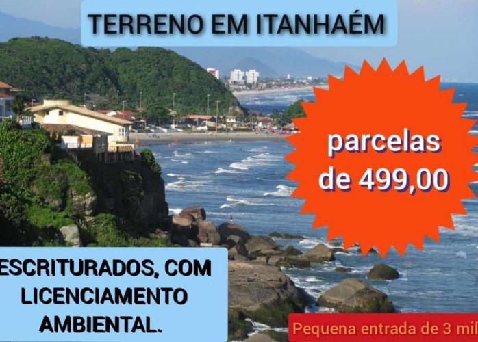 Terreno escriturado a venda em Itanhaém.