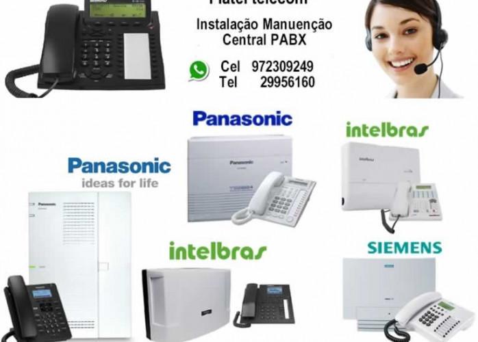 manutenção ,instalação e suporte centrais PABX intelbras ,Panasonic e siemens