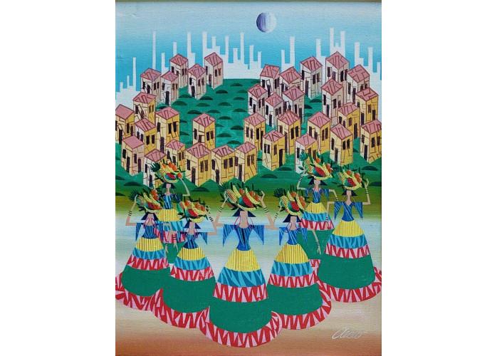 Aecio de Andrade   Baianas   Acrílica sobre tela   40x30cm (70x60cm com moldura)   ACID