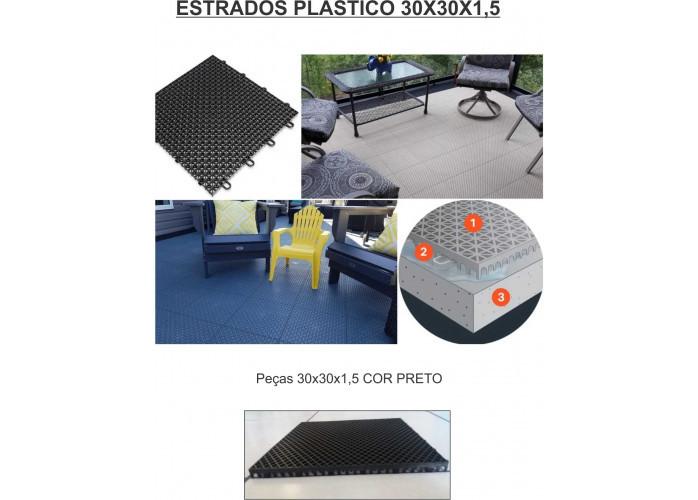 Estrados piso plastico decorado