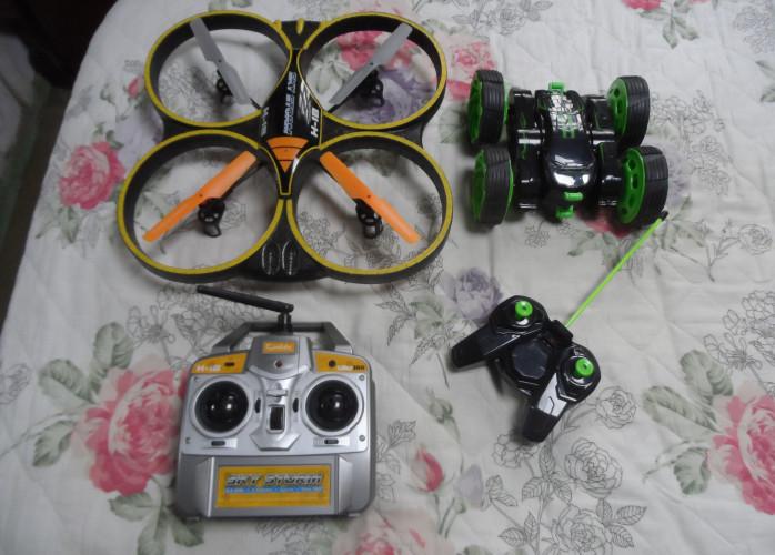 drone e carrinho controle