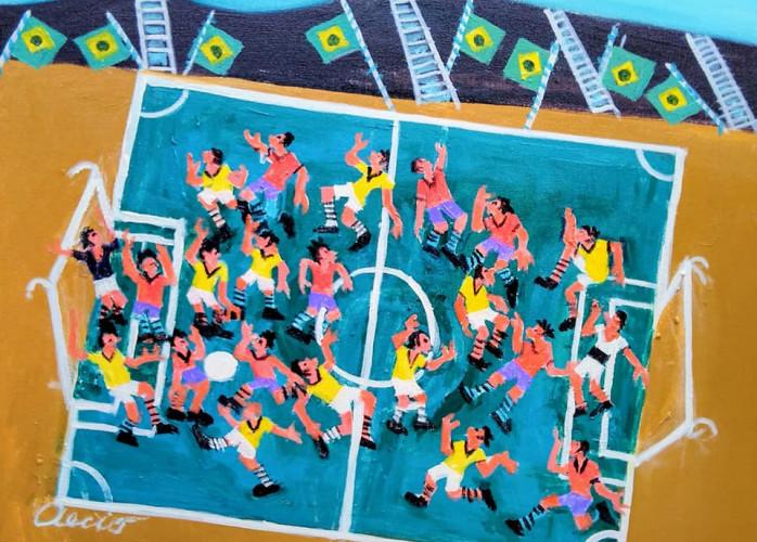 Aécio tema jogadores de futebol medida 50x40