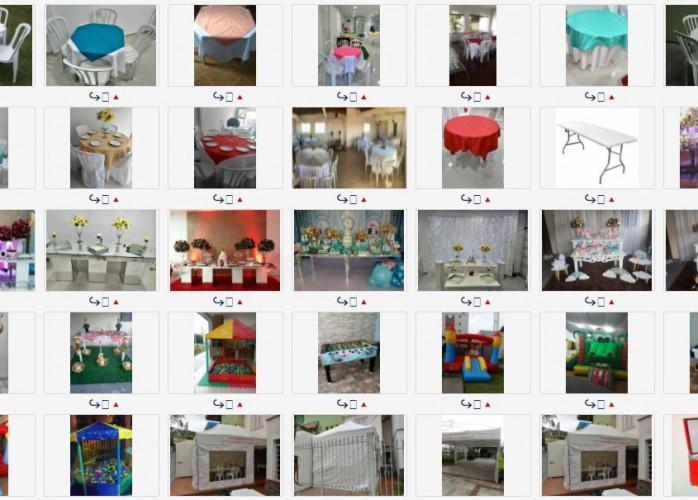 Promoção  Locação de mesas com 4 cadeiras R$ 9,90