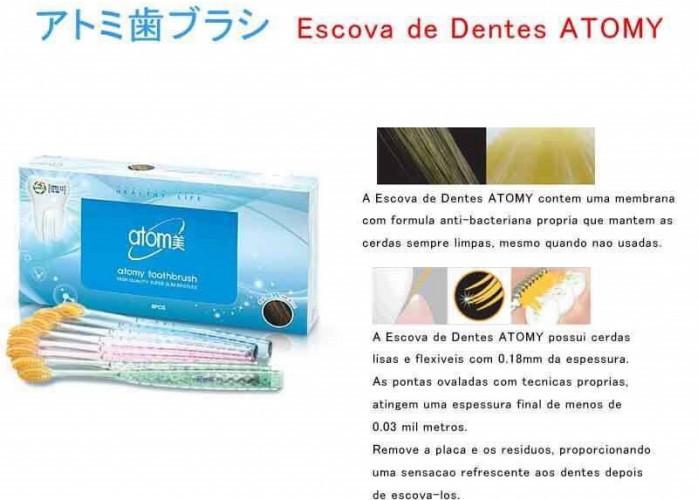 Conjunto de Escova de Dentes Compactas Atomy com 8 Escovas