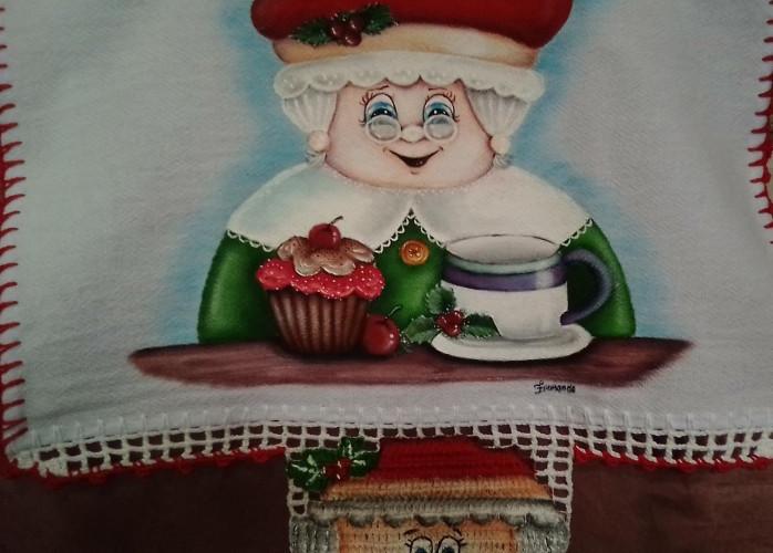 Pinturas em tecido motivos de natal para decorar seu lar